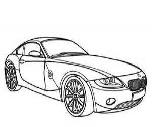 ausmalbilder bmw z4   bmw z4, coloring pages, cars