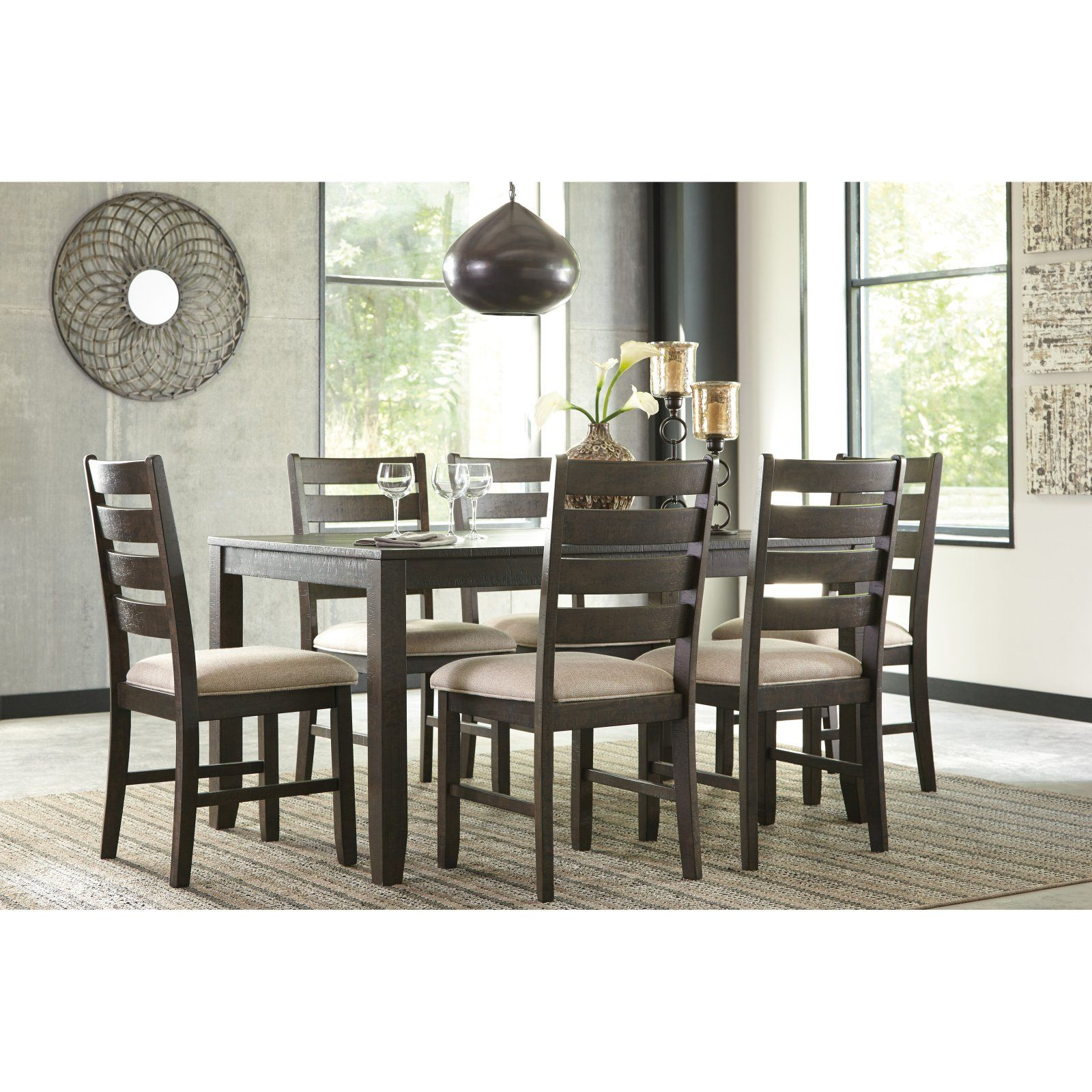 Signature Design By Ashley Rokane 7 Piece Dining Table Set