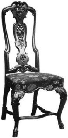 William And Mary (1689 1689) Was A More Conservative Furniture Style. This