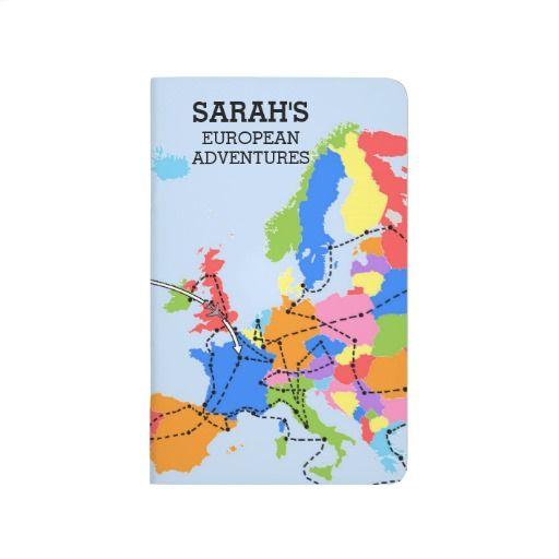 Fun Colorful Personalized European Travel Journal | Zazzle.com ...