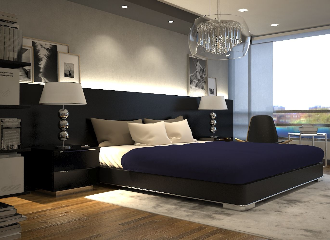 dise o interior dormitorio principal moderno contemporaneo