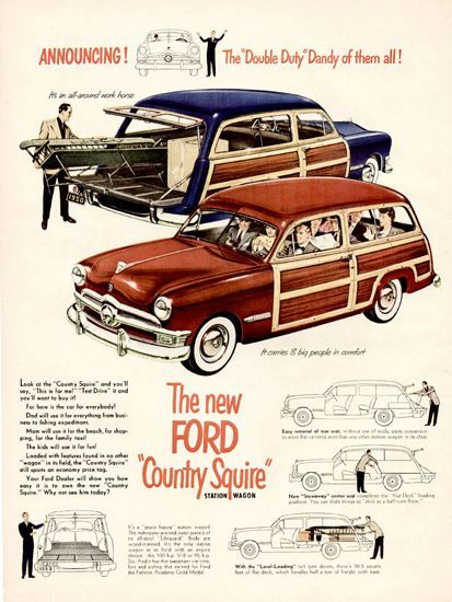 Ford Country Squire 1950 -  | Vintage Cars Advertisement. Features over 1200 of the finest vint