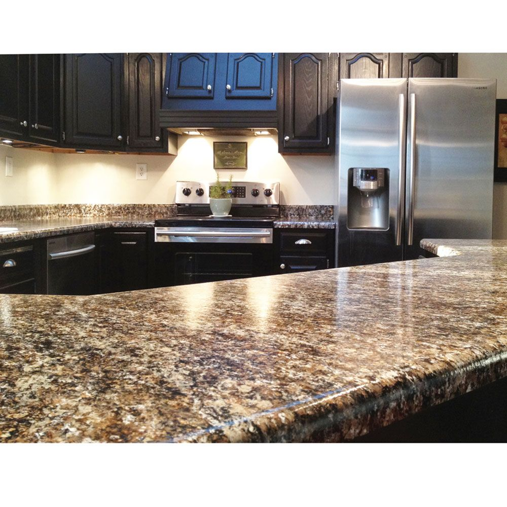 Diy Granite Countertops For Your Home Or Rv Kitchen Update To The Luxurious Look Of At A Fraction Cost