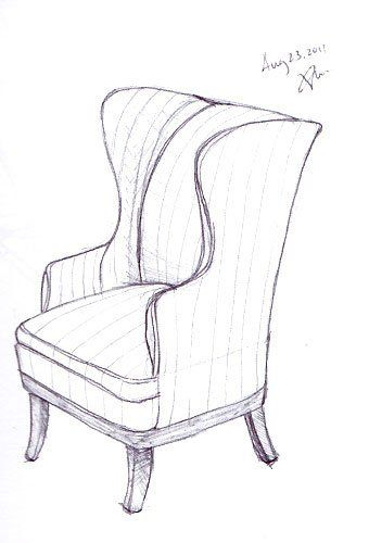 Room Drawing Pencil: Drawing Furniture, Interior Design Sketches