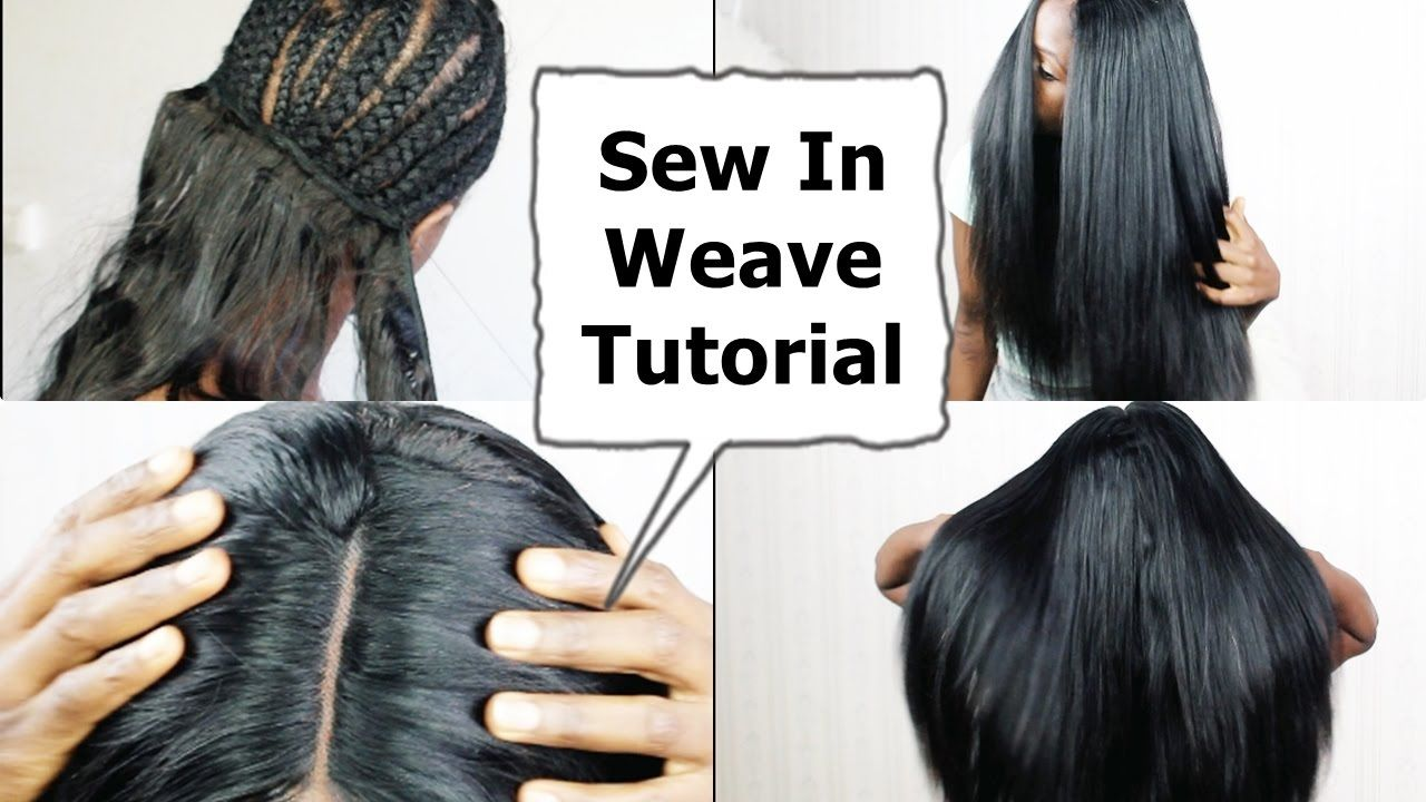 Watch me Do Full Sew In WEAVE No Leave Out NO GLUE Tutorial ...