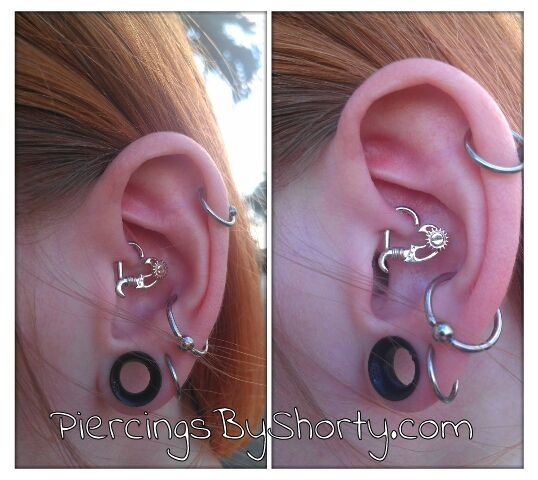 Another Daith Piercing With Steampunk Heart Jewelry From