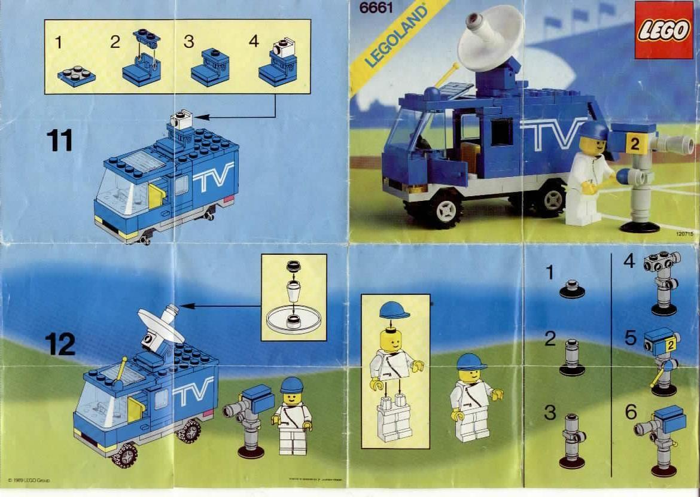 City Mobile Tv Studio Lego 6661 Lego Pinterest Lego Lego