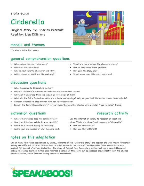 lesson plans cinderella speakaboos worksheets