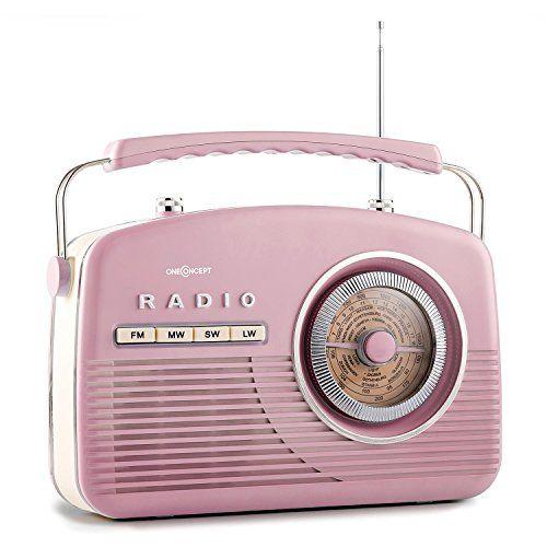 oneConcept NR-12 - Radio de cuisine AM FM rétro 50u0027s feeling vintage