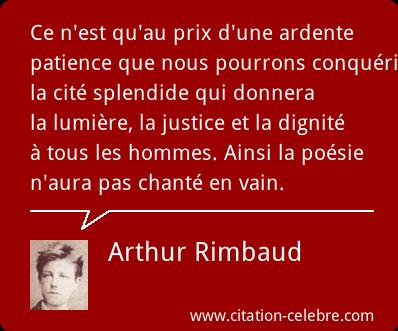 Arthur Rimbaud Citation Rimbaud Poeme Et Affiche Citations