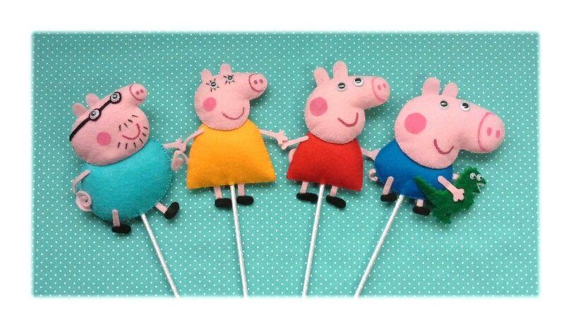 Papai Pig/Mamãe Pig/Peppa Pig/George Pig