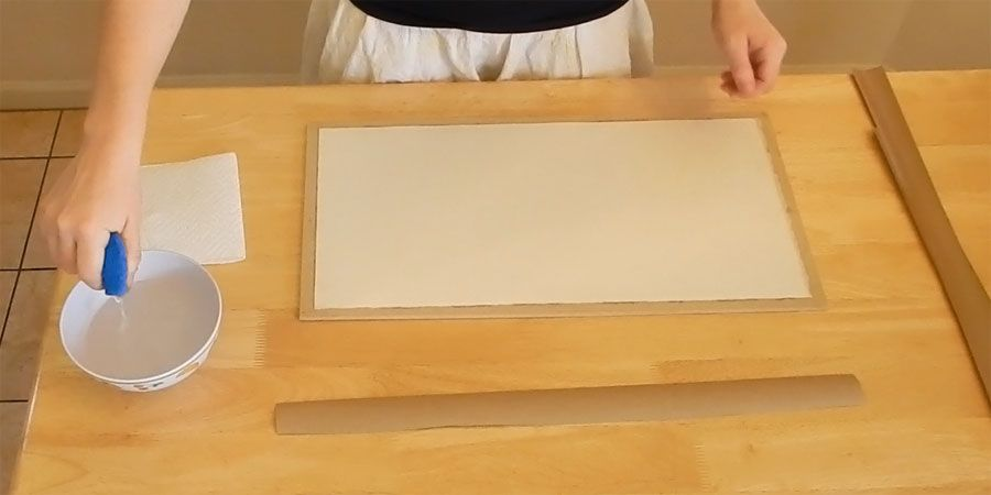A Step By Step Tutorial For Stretching Paper For Water Color
