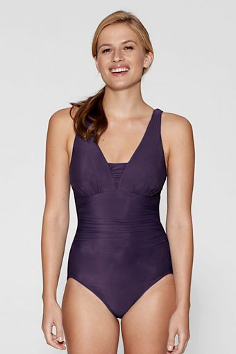 1f5b1f2336e18 Women's Grecian One Piece Slender Suit from Lands' End $5 | Sears ...