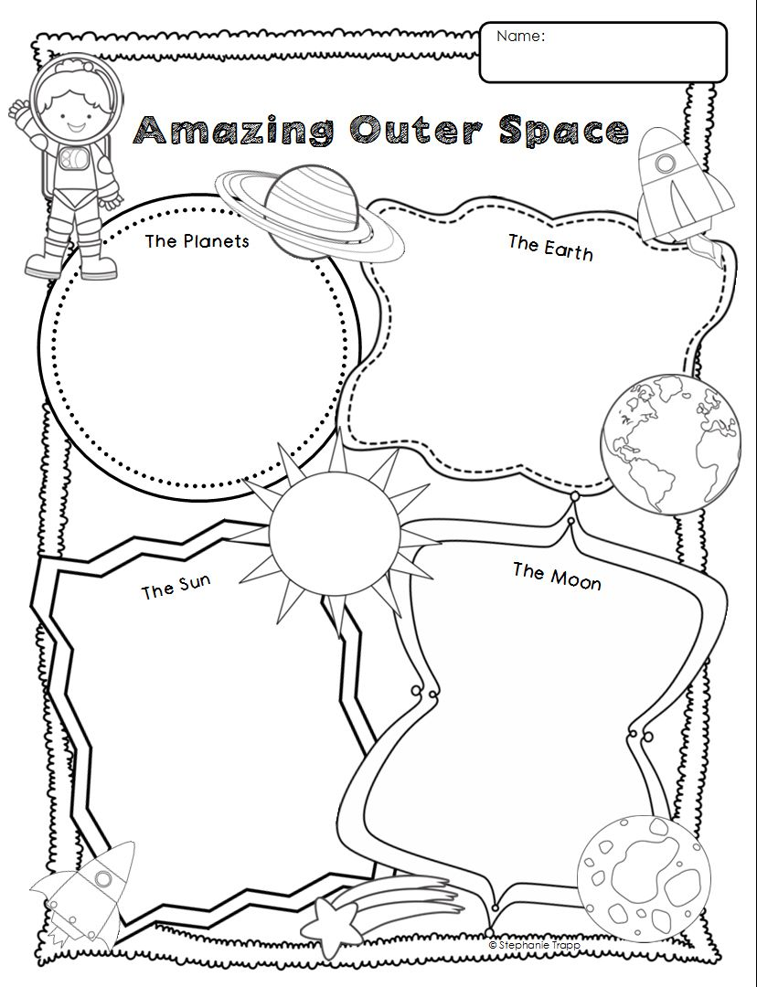 Space Themed Writing Ideas for Kindergarten – Space Worksheets for Kindergarten
