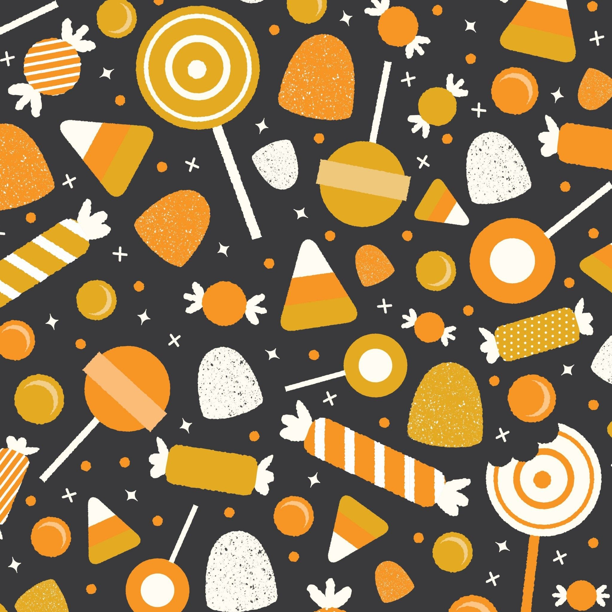 2048x2048 Halloween Candy Tap Image For More Fun Pattern Wallpapers For Iphone Ipad Android Halloween Patterns Halloween Candy Halloween Wallpaper