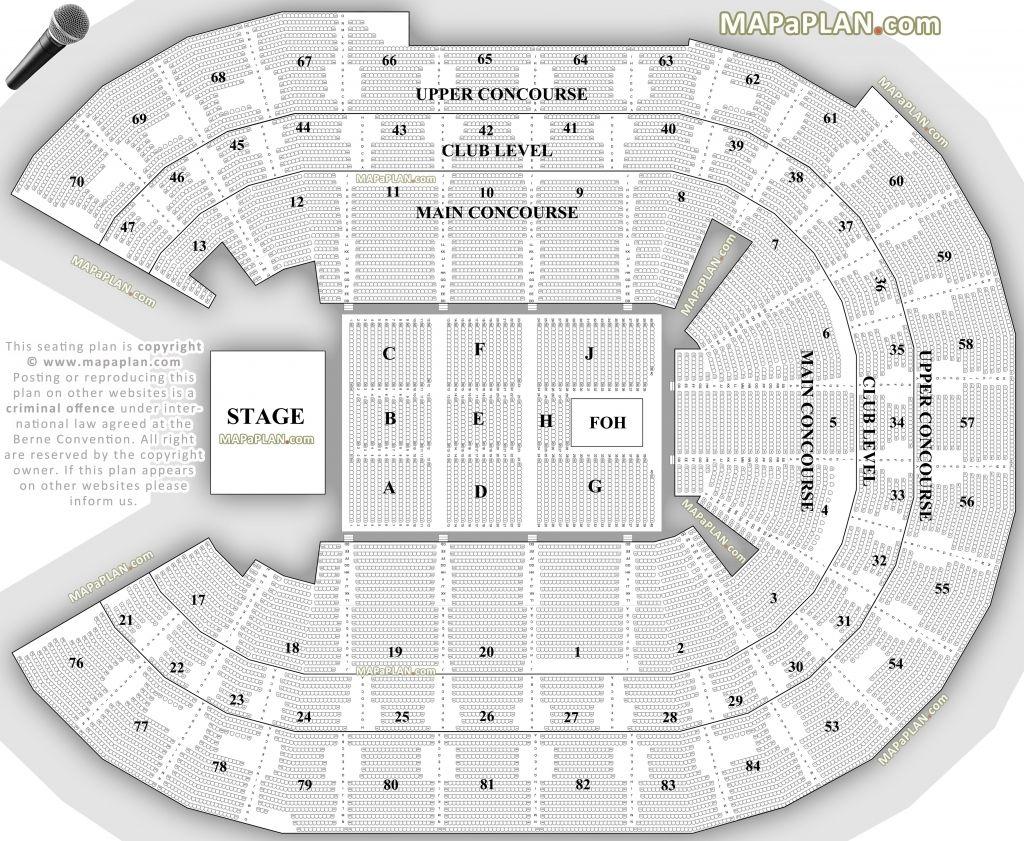Qudos Bank Arena Seating Plan Di 2020 Sydney