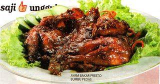 Resep Ayam Bakar Presto Bumbu Pedas Resep Ayam Resep Masakan Resep Masakan Indonesia