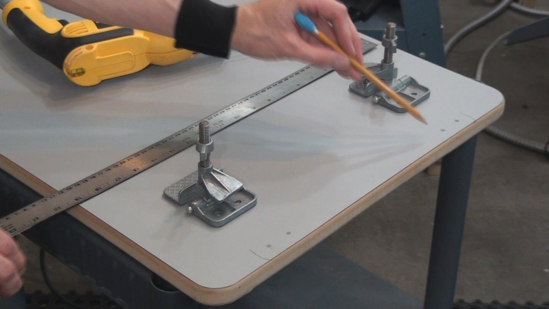 Do it yourself hinge clamp screen printing board diy