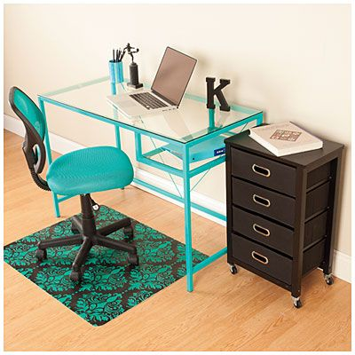 Aqua Office Furniture Set at Big Lots. | Furnished ...