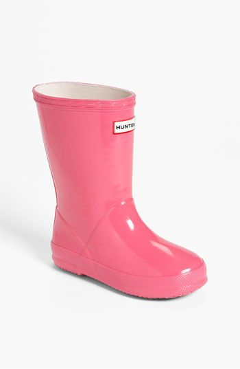 Hunter 'Kid's First Gloss' Rain Boot (Walker, Toddler & Little Kid ...