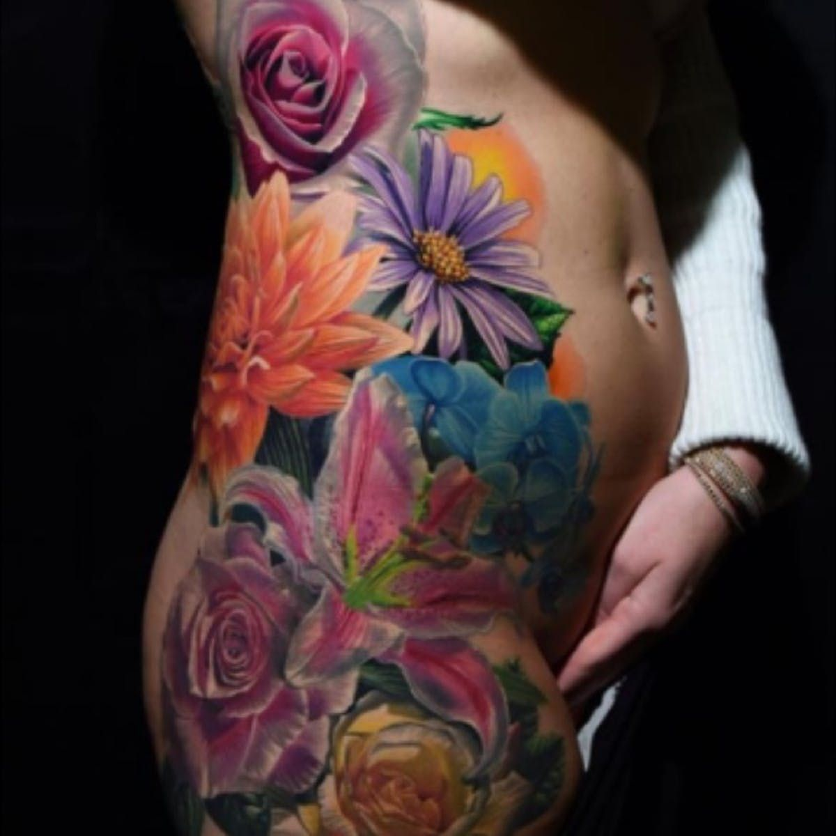 22++ Amazing Bright color flower tattoos ideas in 2021