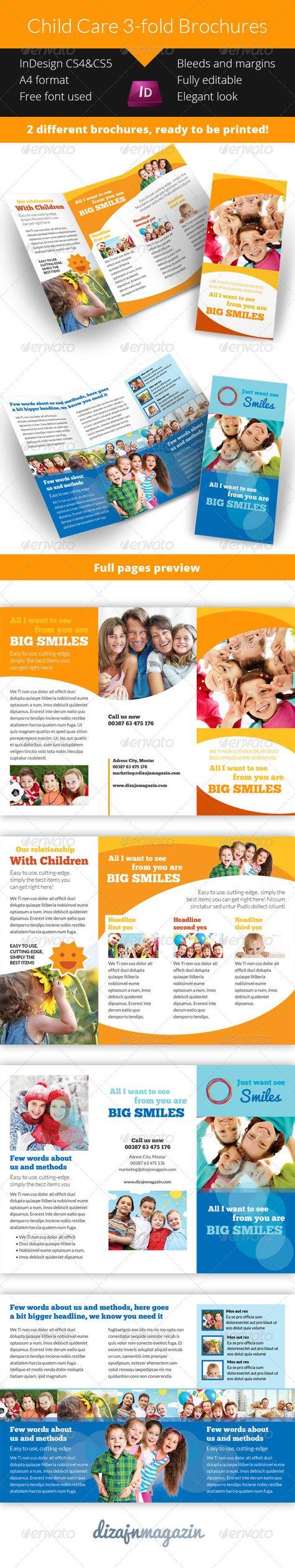 Child Care Kindergarten 3 Fold Brochure Pinterest Brochures