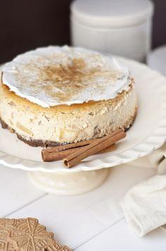 Apfel-Zimt-Käsekuchen mit Spekulatiusboden #dessertrecipes