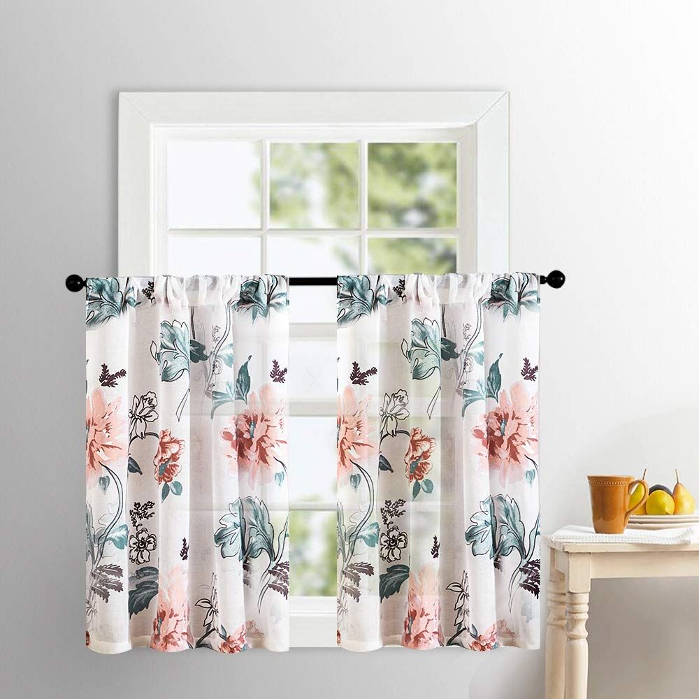 Sheer Tier Curtains Kitchen Tiers 36 Inches Long Cotton
