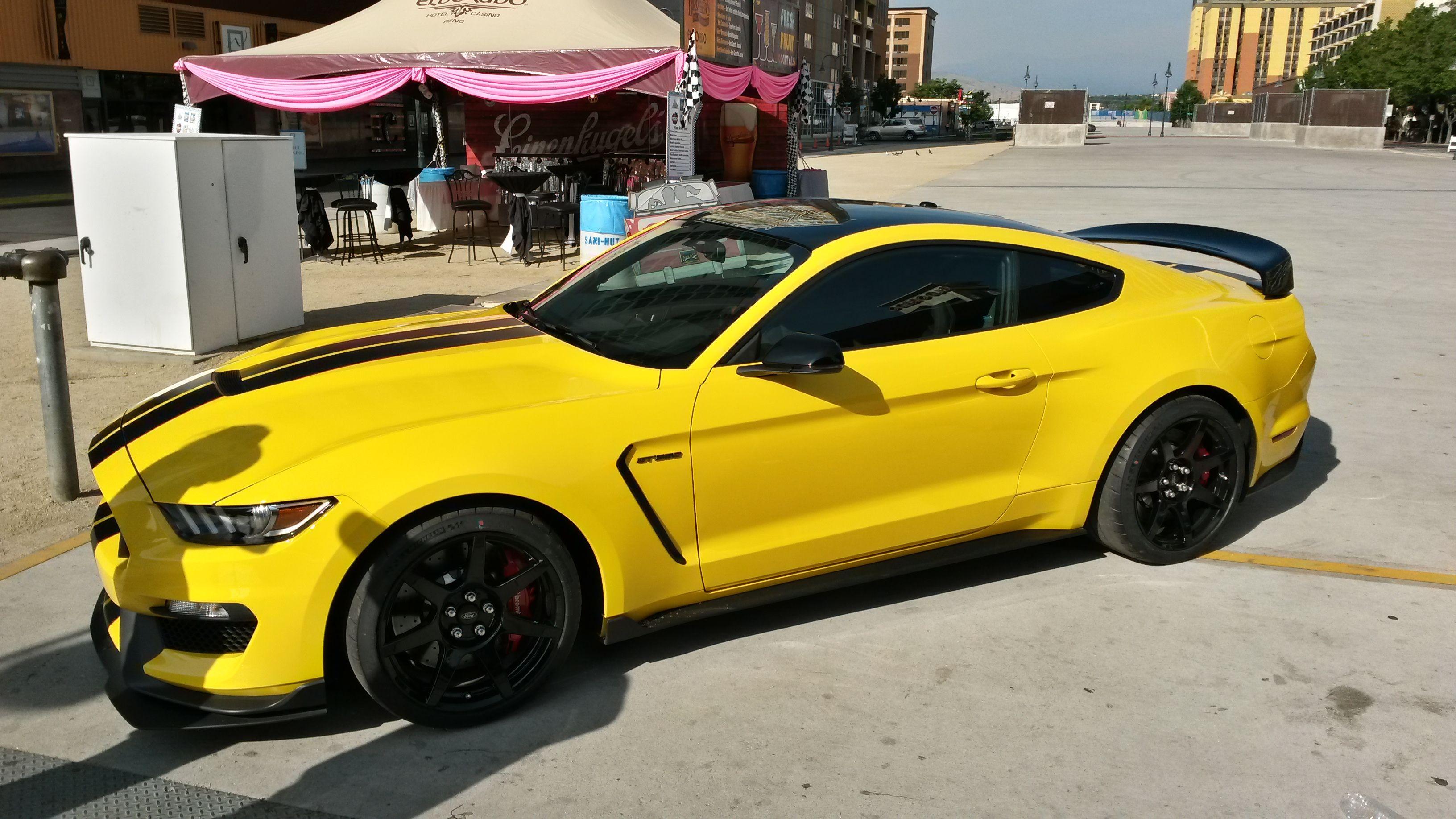 2016 Mustang Gt350r Triple Yellow Black W Red Racing Stripe