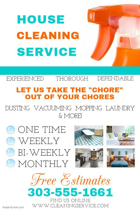 Postermywall Cleaning Service Flyers House Cleaning Services