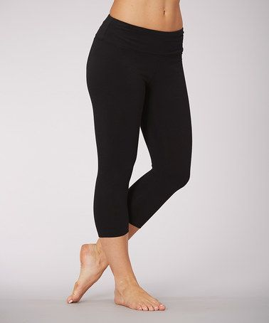 9bed4b0b3be Love this Black Carrie Butt Booster Capri Leggings on  zulily!  zulilyfinds