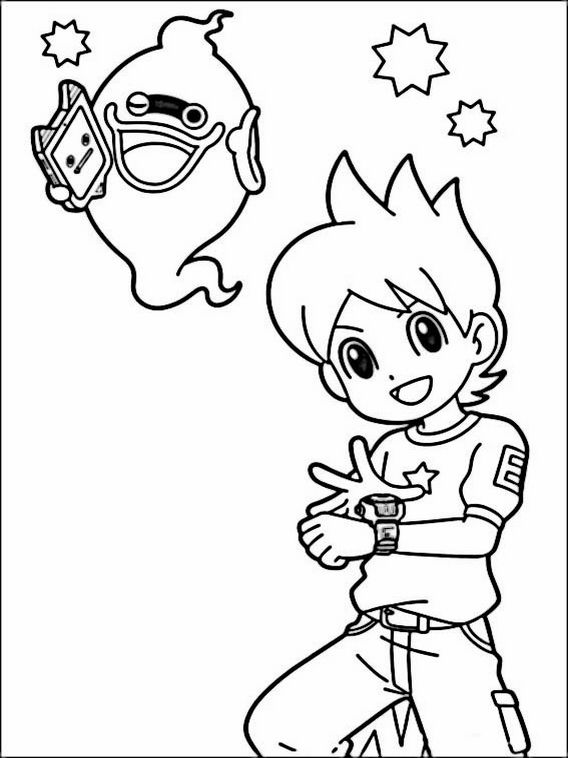 Yo-kai Watch Coloring Pages 6 | Coloring pages for kids | Pinterest
