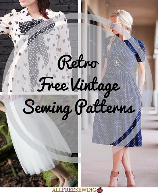 54 Retro Free Vintage Sewing Patterns | Pinterest | Gemalte frauen ...