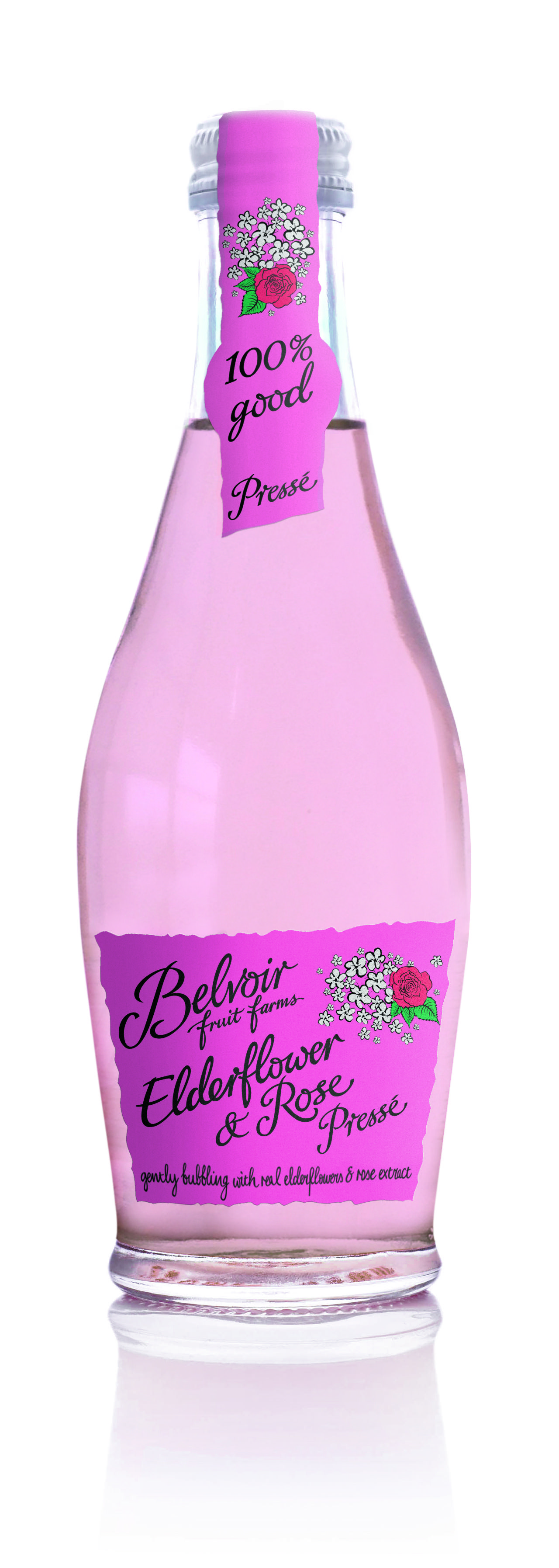Elderflower  Rose Presse, 25cl. Perfect with wine for a refreshing summer drink