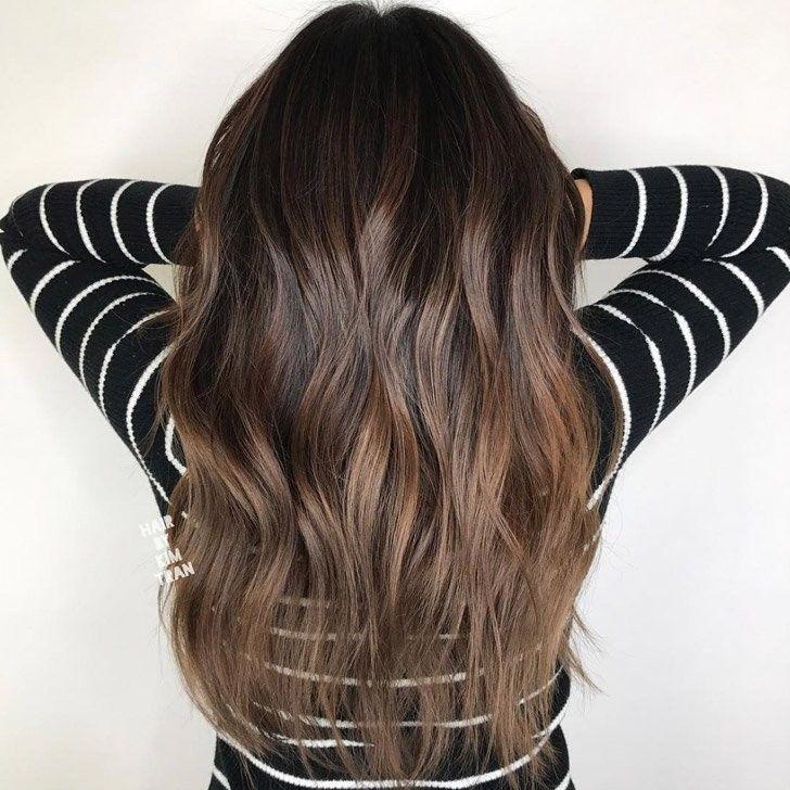 20 wunderschöne dunkle braune Haare mit Highlights Ideen ...