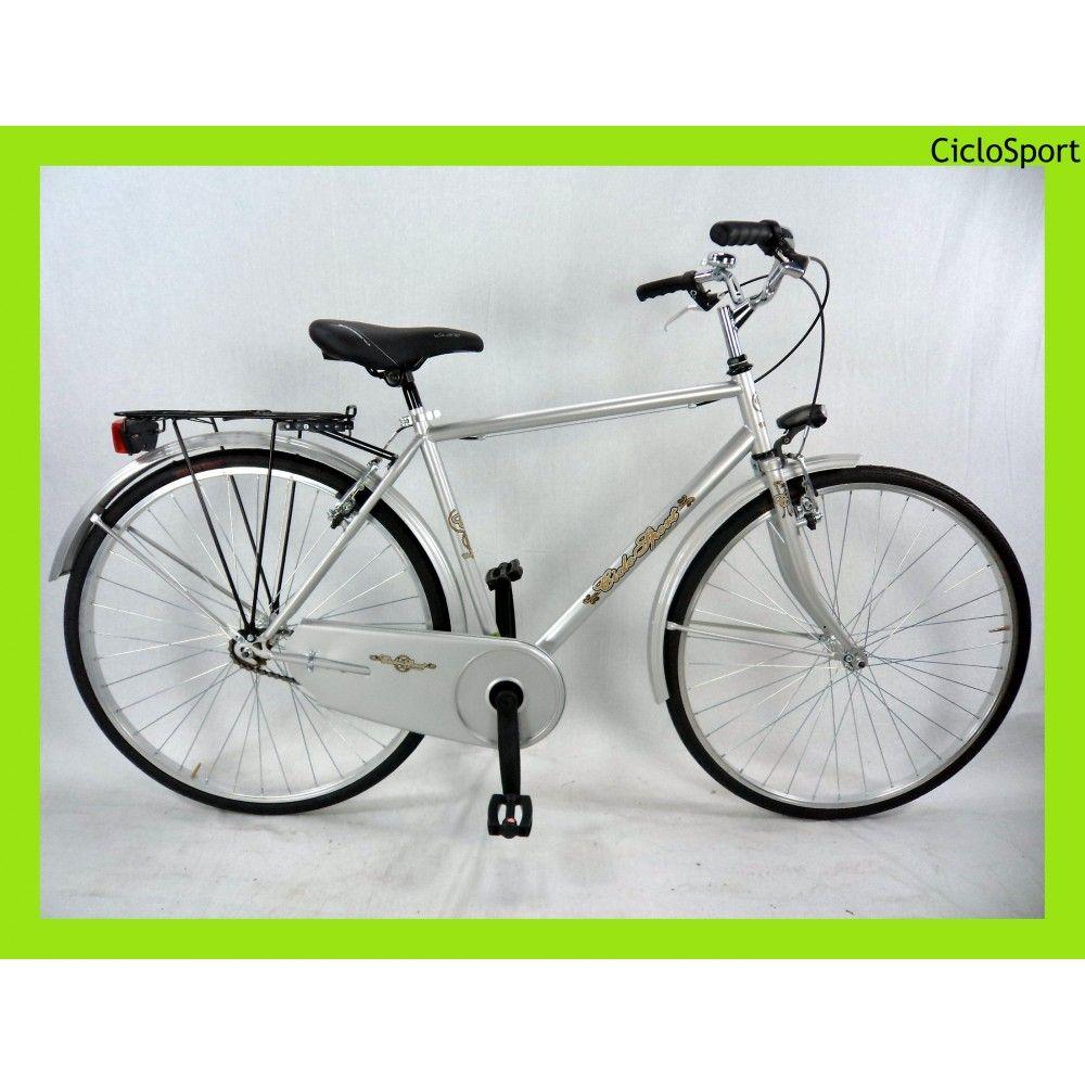 Bicicletta Uomo Olanda 28 Ciclosport Grigia Bici Complete