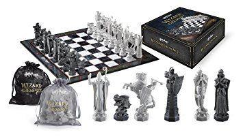 HARRY POTTER sorciers Chess Set 32 pièces + ÉCHIQUIER Noble Collection: Jeu d'échecs géant des Mages vu dans HARRY POTTER et la pierre…