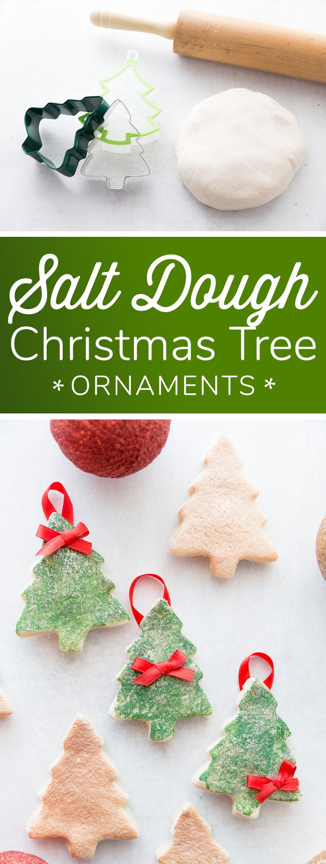 Diy Salt Dough Christmas Tree Ornaments Easy Salt Dough Ornament Recipe Diy Christmas Tree Ornaments Christmas Ornaments Kids Ornaments