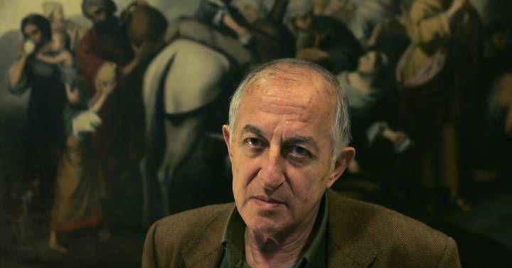 Juan Goytisolo en una entrevista en Madrid
