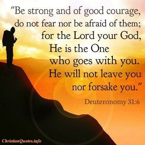 The Lord will not leave you