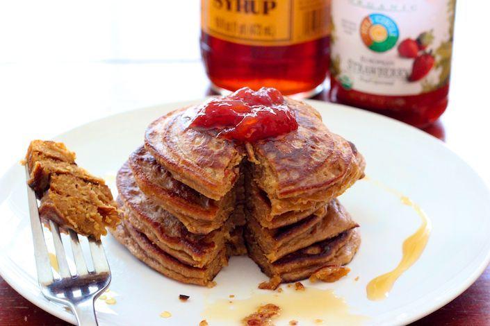 Organic Flourless Peanut Butter  Jelly Pancake Recipe Gluten Free  Grain Free  Going Paleo or trying