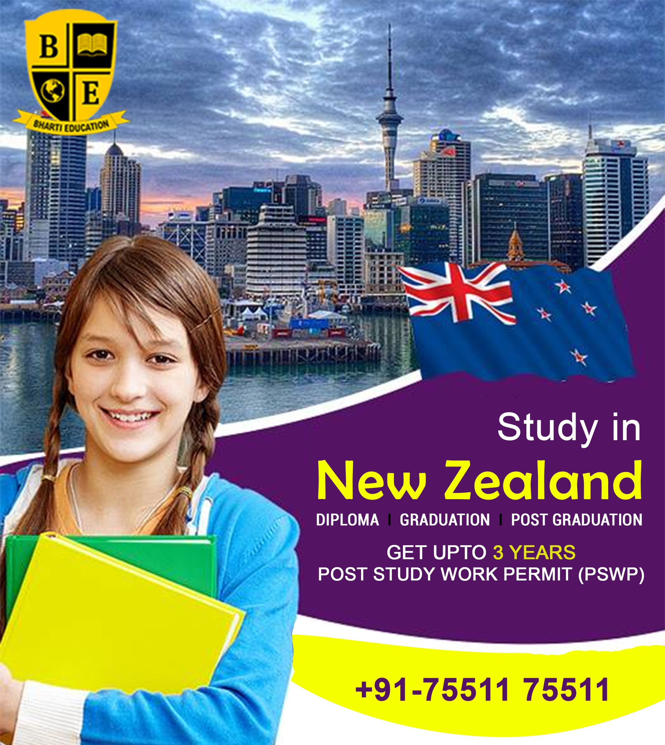 STUDY IN NEW ZEALAND (GOLDEN OPPORTUNITY) !!! ( AS PER NEW