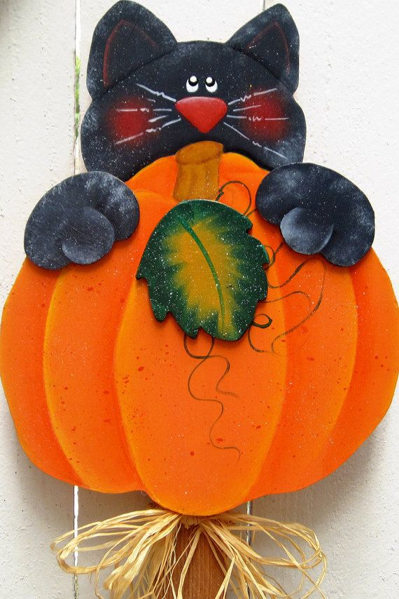 Halloween Yard Art Black Cat Yard Sign Halloween Decor Fall Decor