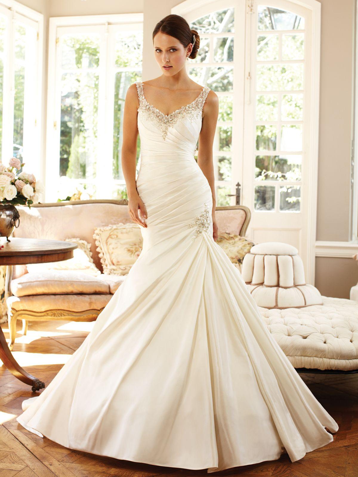 Sophia Tolli Fall 2013 Bridal Collection | Mermaid gown, Bridal ...