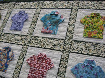 Hawaiian shirt quilt look what we found aloha shirt pattern by