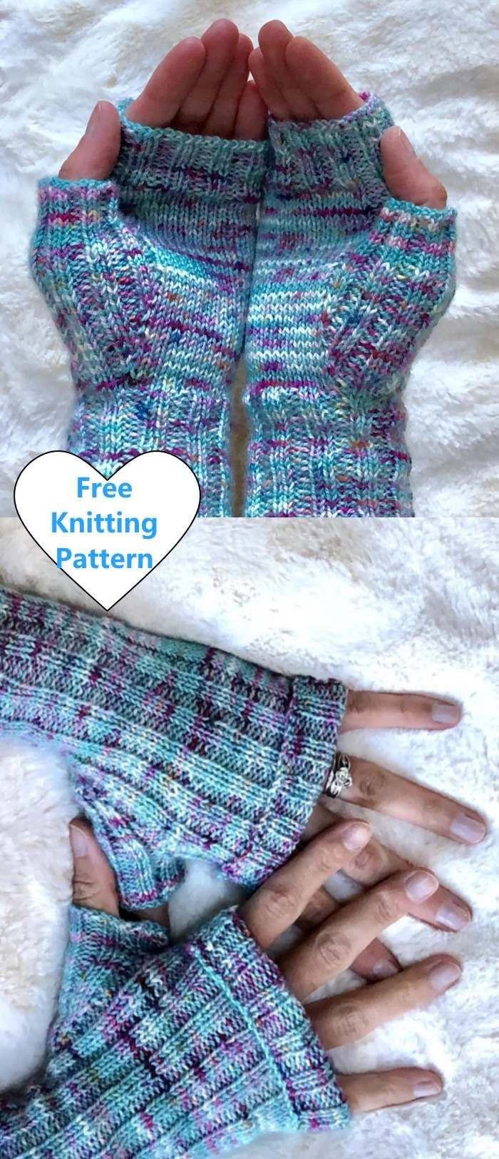Free Knitting Pattern for Easy Ribbed Mitts