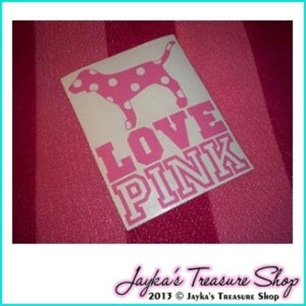 Victoria's Secret LOVE PINK 55 x 7 Car by JaykasTreasureShop | Car ...