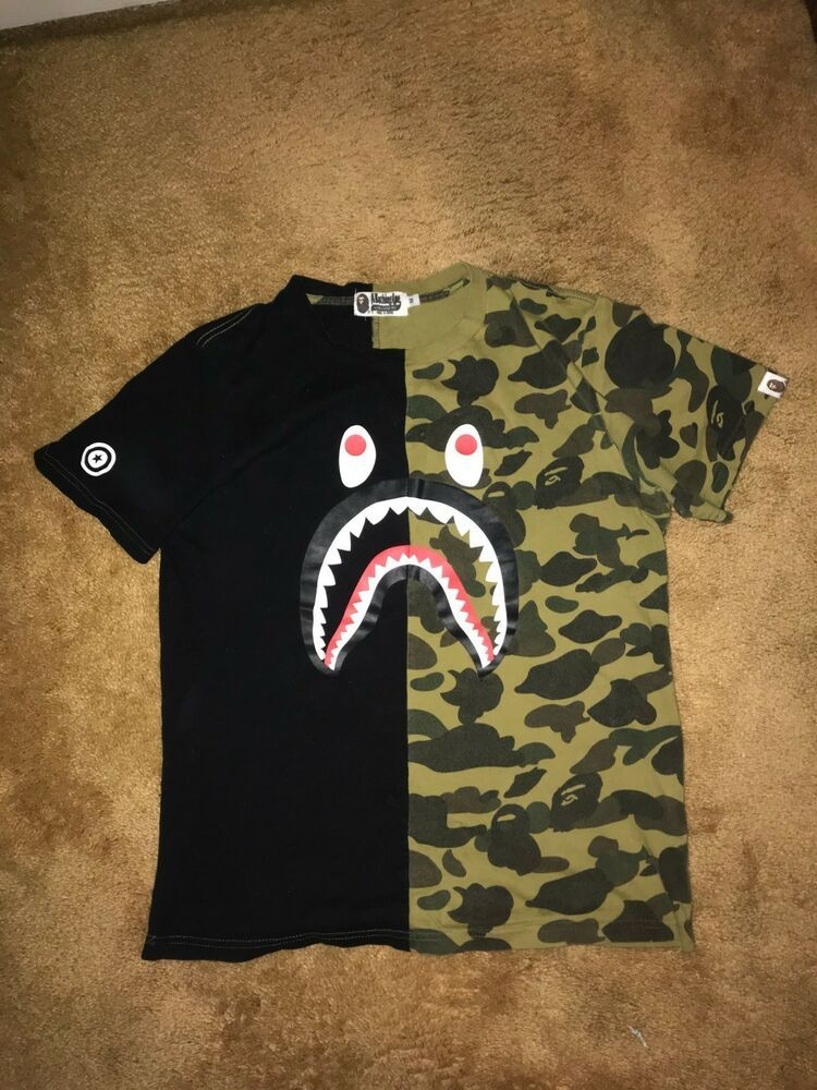 9ad13948 [AUTHENTIC] Bape A Bathing Ape T-Shirt! Camo/Black #fashion #clothing  #shoes #accessories #mensclothing #shirts (ebay link)