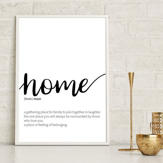 Our contemporary home print is the perfect addition to your home decor, complimenting any room with our minimalist monochrome colour. This inspirational quote print will add the finishing touch to any wall space. **This print can be personalised to any size or colour of your