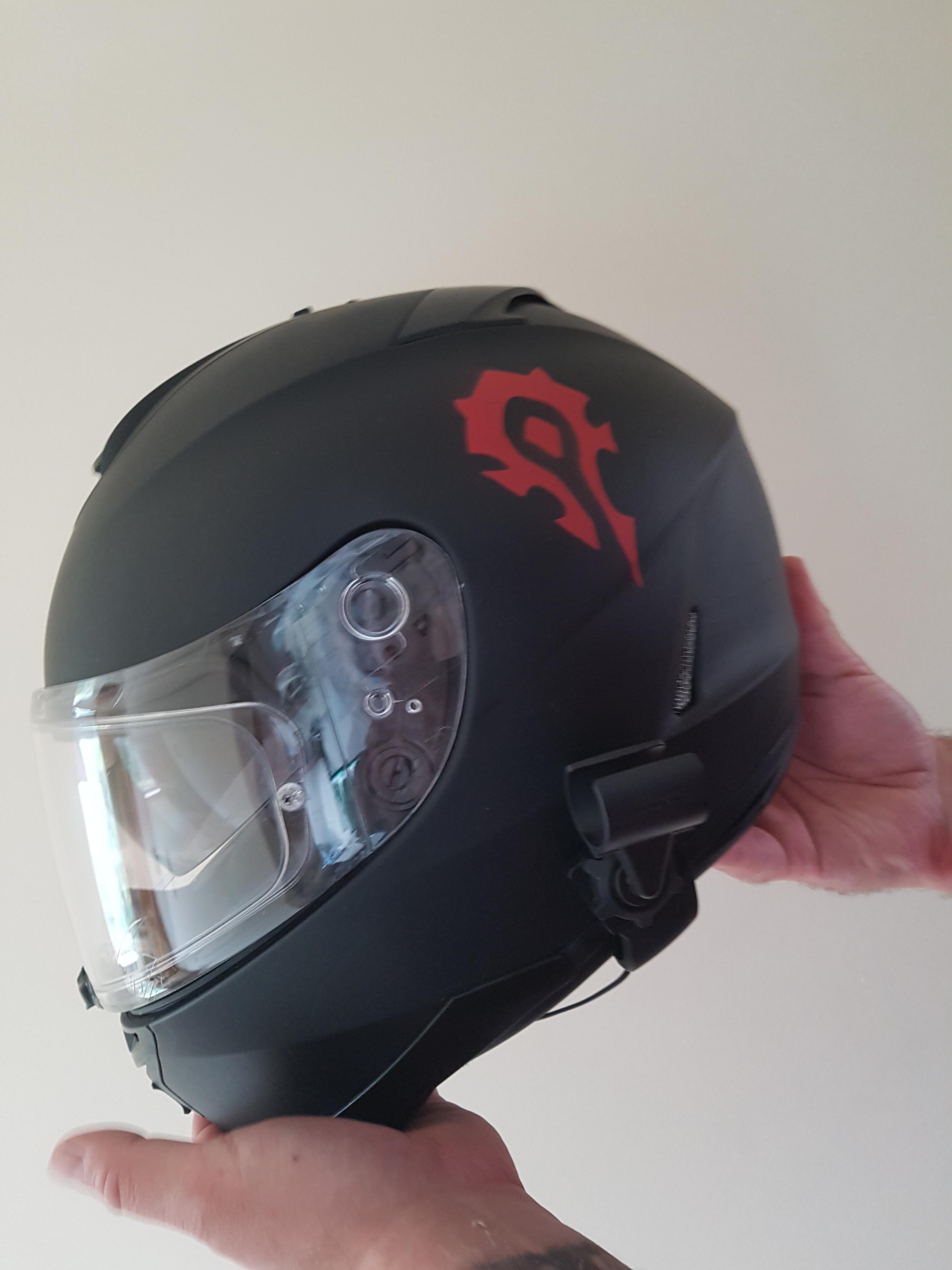 Guildie Customised His Bike Helmet Worldofwarcraft Blizzard Hearthstone Wow Warcraft Blizzardcs Gaming Bike Helmet Riding Helmets Helmet